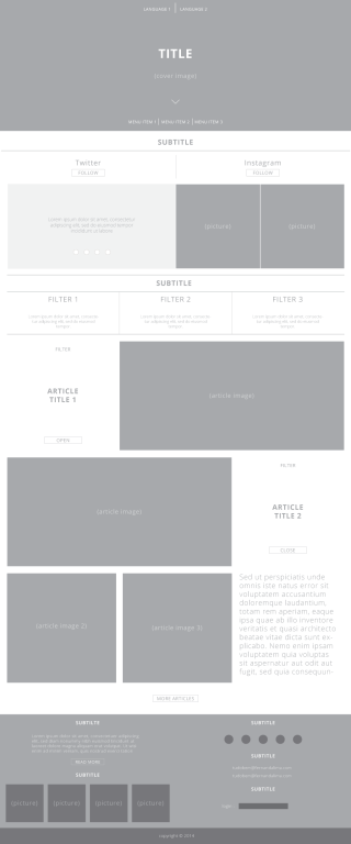 Oficial – Site Wireframe (Homepage)